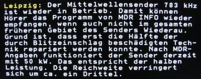 MDR TV Videotext